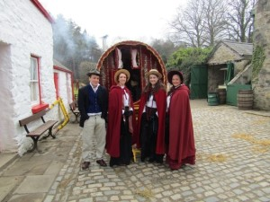 Queen's MA History interns participating in the Ulster American Folk Park's 'Easter Fair Day, 1916' event